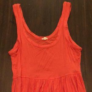 Orange J. Crew Tank Dress